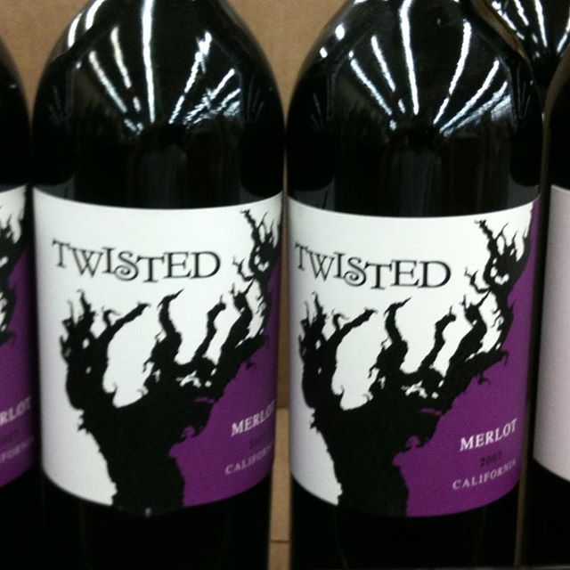 Day 3 of 31 days of Halloween  wine labels. This twisted merlot is sure to scare up the crowd at a wine party.