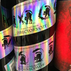 Day 20 of 31 Days of Halloween wine labels. Black cats and rats, a director's cut in technicolor. A Coppola Red. ⠀.⠀