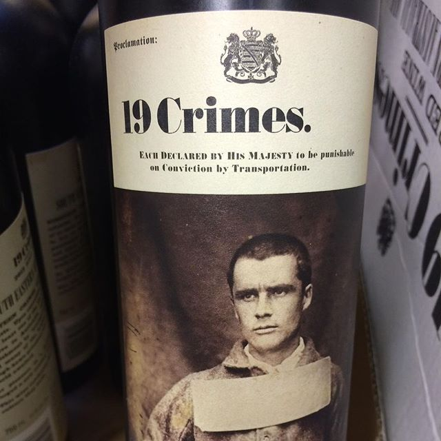 Day 19 of 31 Days of Halloween wine labels. What else would fit the 19th but 19 Crimes. You see what I did there 19 and 19. Ha. Follow for more Halloween wine labels. The best is yet to come. Cheesy, but true. Cheers!⠀.⠀