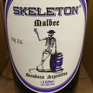 "Day 30 of 31 Days of Halloween wine labels. So a skeleton walks into a bar and says pour me a Malbec. The bartender say ""Ahhh talking skeleton"". ⠀⠀⠀☠️⠀⠀#halloween #halloweenwine #halloweenwinelabels #holidaywine #skeleton #malbec #mendoza #argentina ⠀#winelabel #winelabels #winebottle #winebottles⠀#redwine #redwinelover #vinotinto #redwine #redwinetime #trickortreat #talkingskeleton #winefun #winetime #wineoclock #winestagram #wine #winelover  #winelife"