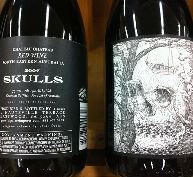 Day 22 of 31 Days of Halloween wine labels.