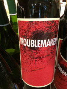 DAY 5 – 31 DAYS OF HALLOWEEN WINE LABELS – Troublemaker